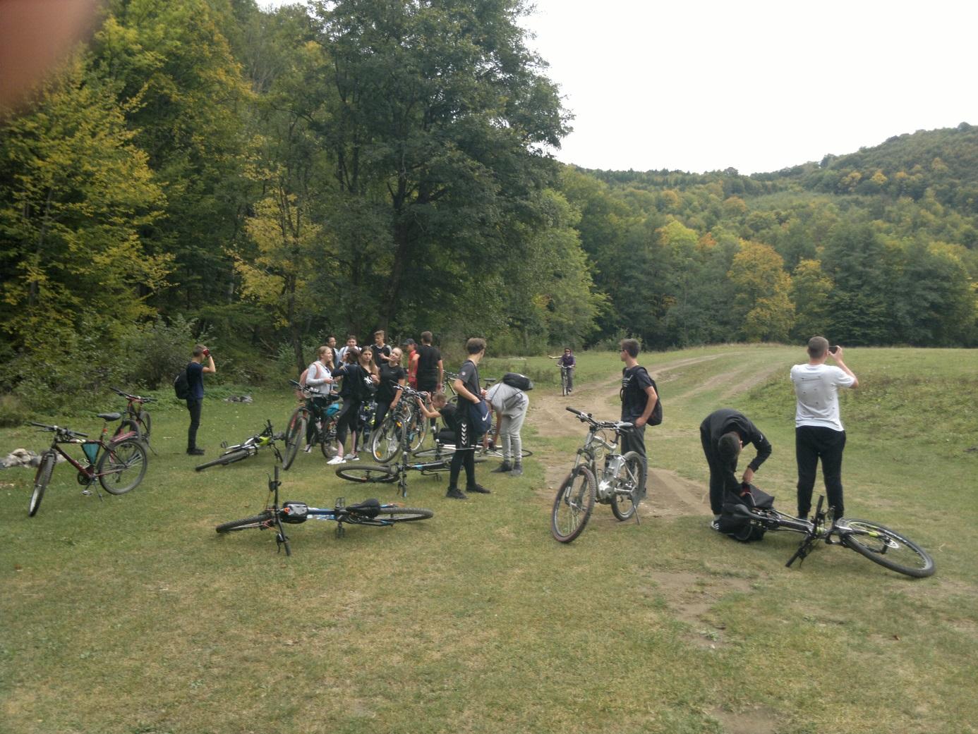 16. A kerékpáros csapat megérkezett a Vargyas - szorosba