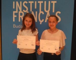 Díjátadó ünnepség a Budapesti Francia Intézetben