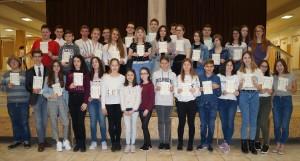 Eötvösös nyolcosztályos gimnazisták tanulmányi versenyen Hajdúnánáson