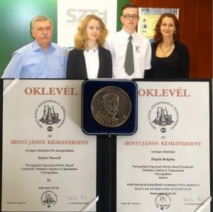 Eötvösös sikerek az Irinyi János Országos Középiskolai Kémiaversenyen