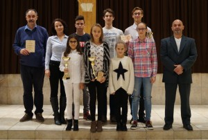 Rangos elismerés és díjak a Városi Sportgálán az Eötvös Gyakorlóiskola sportolóinak