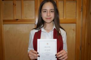 Gimnazistánk sikere a szavalóversenyen